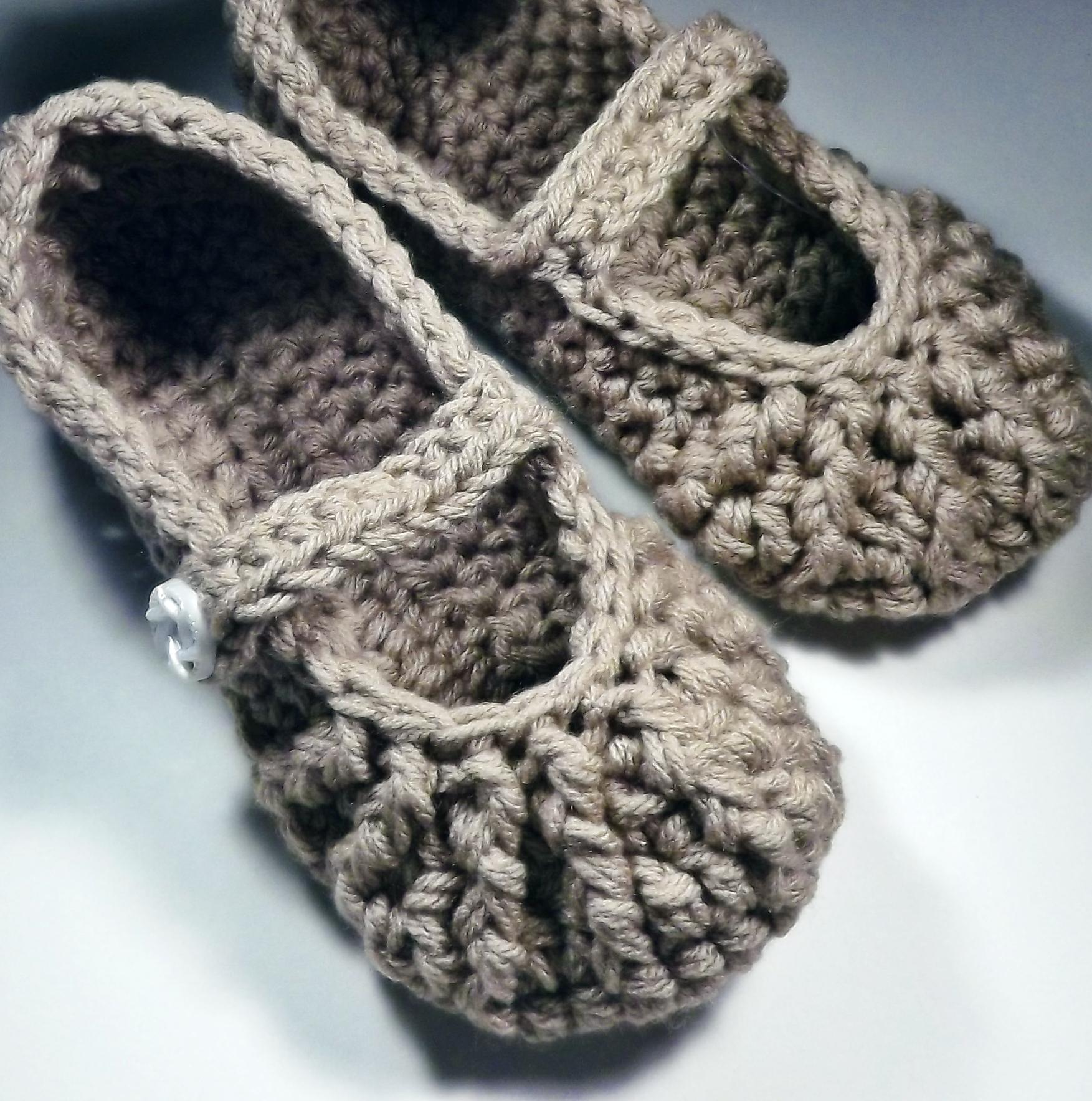 Mary Jane Slippers Crochet For Women Brown On Luulla